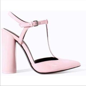 Zara patent pointy heels - size 8